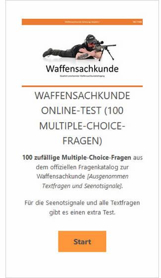 Waffensachkunde Onlinetest