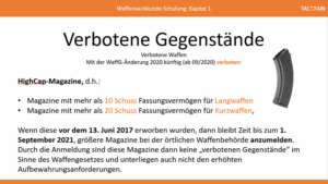 Waffensachkunde Verbotene Gegenstände: Große Magazine