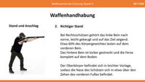 Waffensachkunde-Unterricht: Stand und Anschlag
