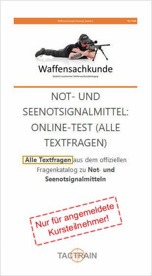 Not- und Seenotsignalmittel Sachkunde-Textfragen