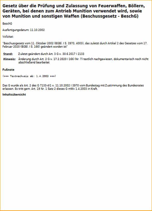 BeschG Download