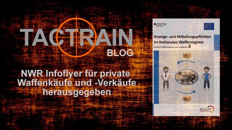 Blog: Infoflyer private Waffenkäufe und -Verkäufe